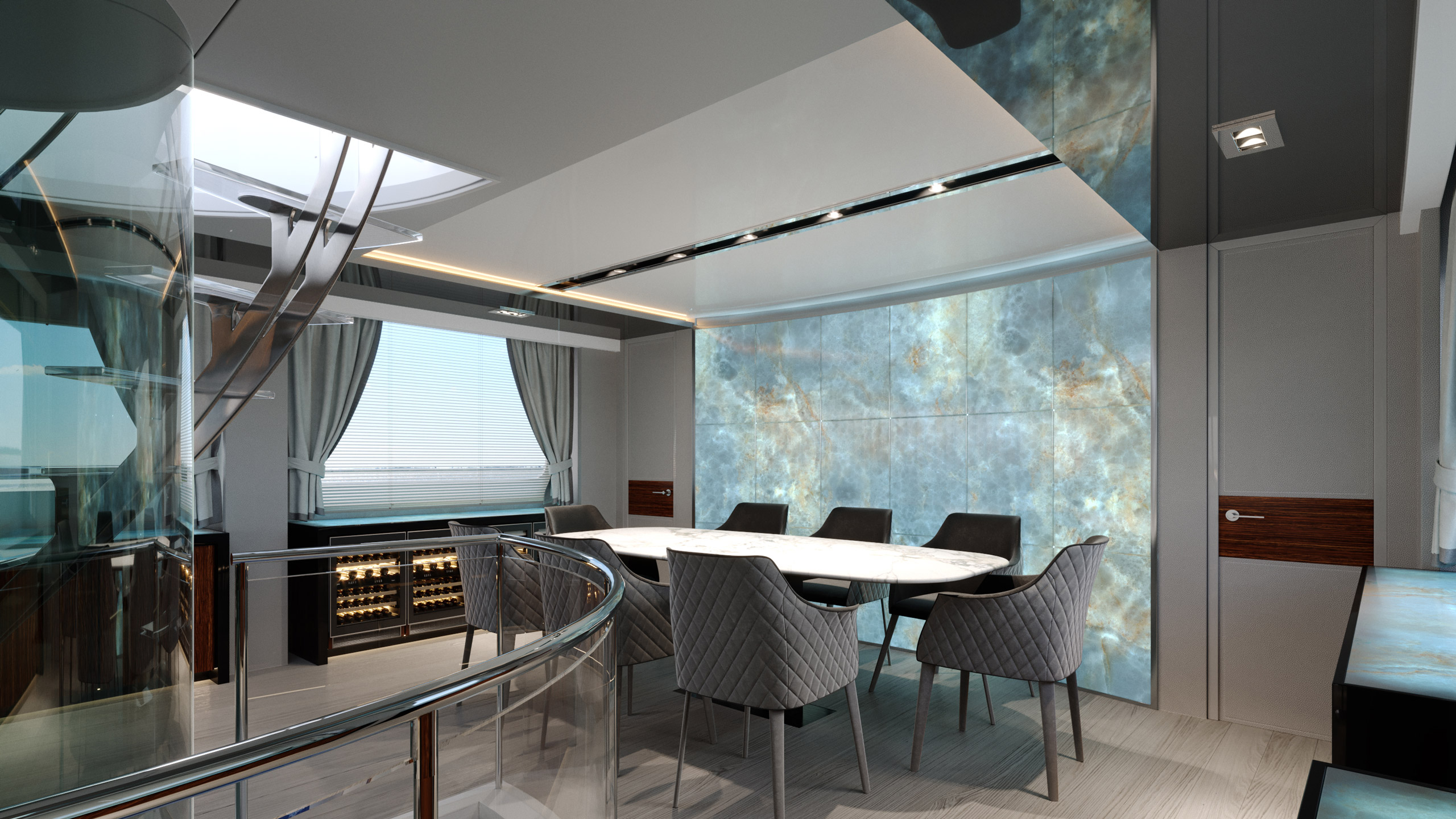 Yacht Design Azimut Dining room